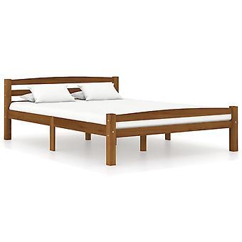 vidaXL sängyn runko hunajanruskea massiivipuu mänty 120x200 cm