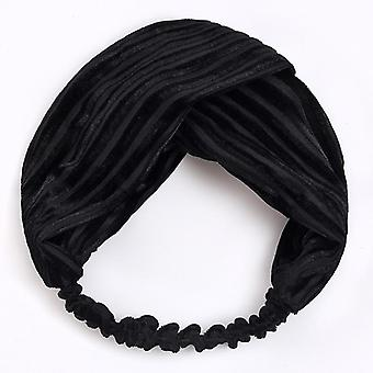 Women Soft Solid Color Elastic Hairband
