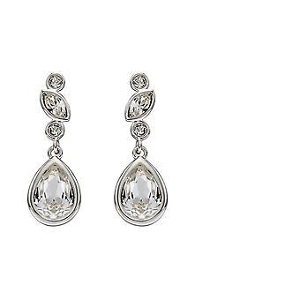 Elementen Zilveren Vrouwen Crystal Bungelen en Drop Oorbellen E5692C