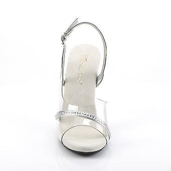 Fabulicious Women's Shoes CARESS-456 Clr-Slv Metallic Pu/Clr