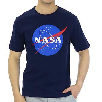 Nasa Hommes T-Shirt Slim Fit Demi-manche Bleu