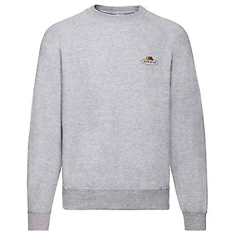 Fruit of the Loom Mens Vintage Small Logo Raglan Sweatshirt