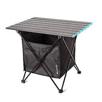 Alumiiniseos Kannettava taittopöytä ja monikäyttöpöytä retkeilyyn ja piknikille (musta)