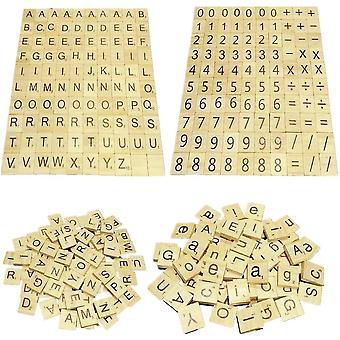 Diy خشبي الأبجدية الحرف التعليمية رسائل الألغاز