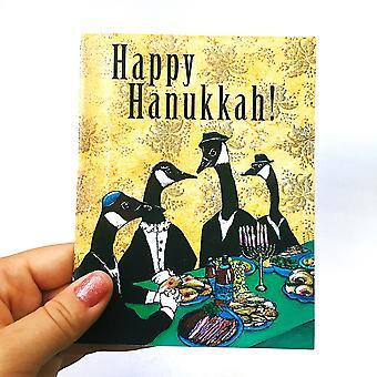 Jedinečná karta Happy Chanukkah