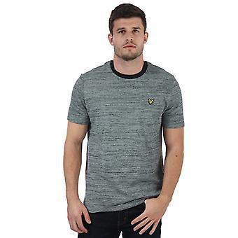 Mannen Lyle en Scott Garen Mix T-Shirt in Blauw