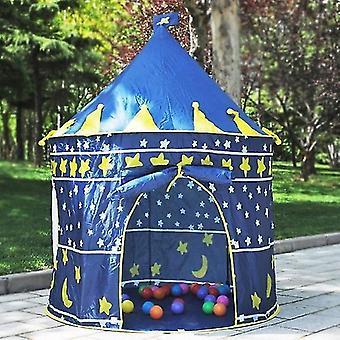 Vnútorné / vonkajšie detské hračky Herne Play House Princess Castle Stan Darček pre deti (tmavo modrá)