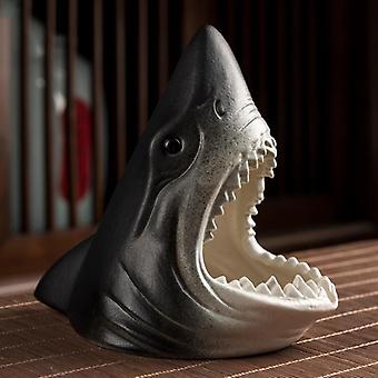 Keramische asbak creatieve haai sculptuur desktop decoratie