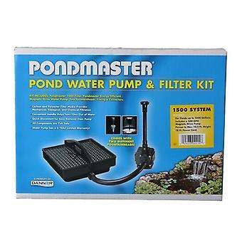 Pondmaster Garden Pond Filter System Kit - Model 1500 - 500 GPH (Up to 1,000 Gallons)
