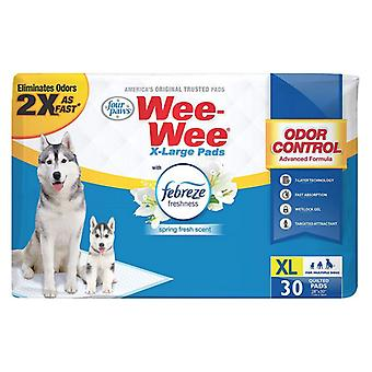 Four Paws Wee Wee Odor Control Pads with Febreze Freshness X-Large - 30 count