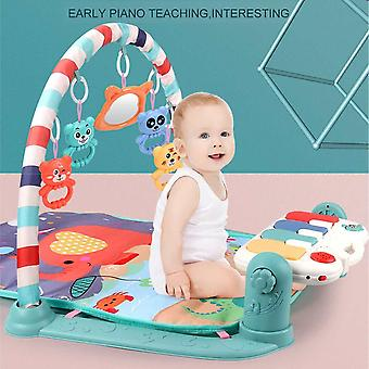 Baby Infant Gym Play Mat Fitness Music Piano Hanging Toy Projector Early Educational Puzzle