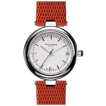 LLarsen (Lars Larsen Brown Genuine Leather) 126-Pearl/Brown Women's Watch