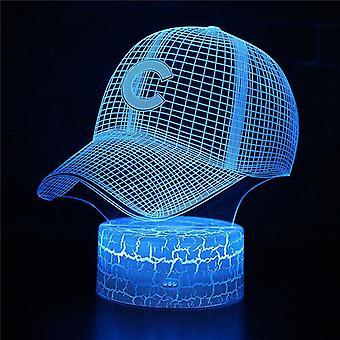 Lámparas de ilusión ópticas 3D 7 colores Interruptor de cambio táctil Luz nocturna Art Deco Hacer un ambiente romántico