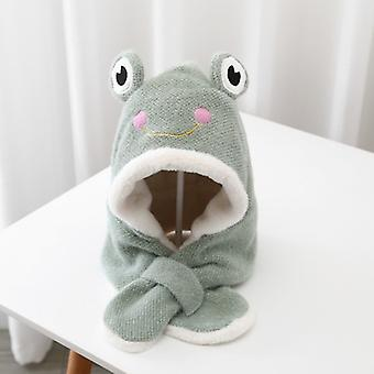 Frog Scarf Hat One-piece Cap