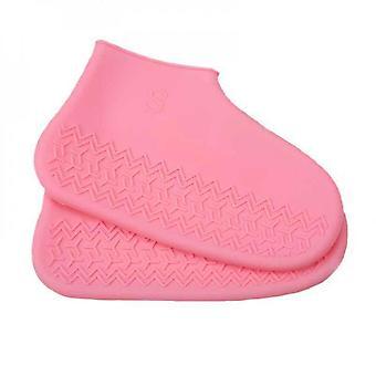 1 Paar wasserdichte Silikon Schuhabdeckung Outdoor wiederverwendbare Regen Stiefel rutschfesten Schuh Schutz