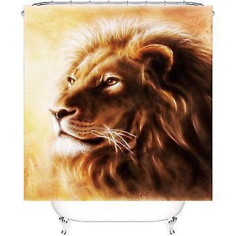 4pcs Bathroom Decor Set Bath Rug Lion Pattern