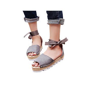 kvinners flate sandaler runde tå stropper uformelle sko plattform