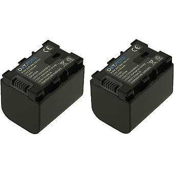 2 x Dot.Foto JVC BN-VG121 sostituzione della batteria - 3.6 v / 2100mAh