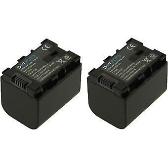 2 x Dot.Foto JVC BN-VG121 wymiana baterii - 3.6V / 2100mAh