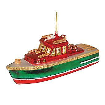Rivier boot geblazen glas Christmas Ornament vakantie