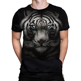 Liquid blue - majestic white tiger - short sleeve t-shirt plus sizes