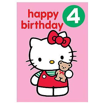 مرحبا كيتي سن 4 شارة، بطاقة عيد ميلاد