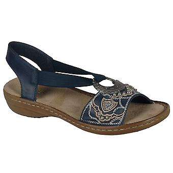 Rieker juvel Ring Trim Dame sandaler