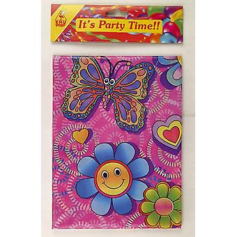 Flower / Butterfly Plastic Tablecloth - 395-417