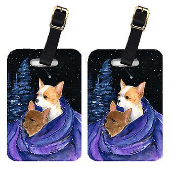Carolines Treasures  SS8513BT Starry Night Chihuahua Luggage Tags Pair of 2
