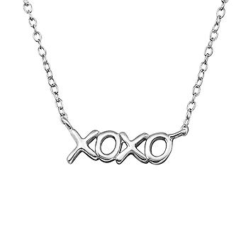 XOXO Inline - 925 Sterling Silver Plain Necklaces - W20703X
