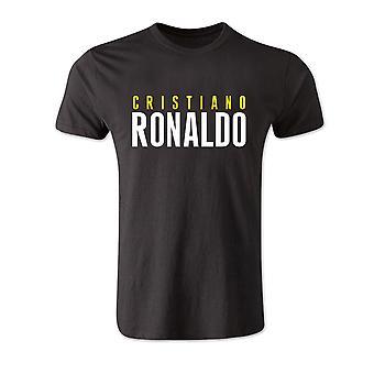 Cristiano Ronaldo frente nome t-shirt (preto)