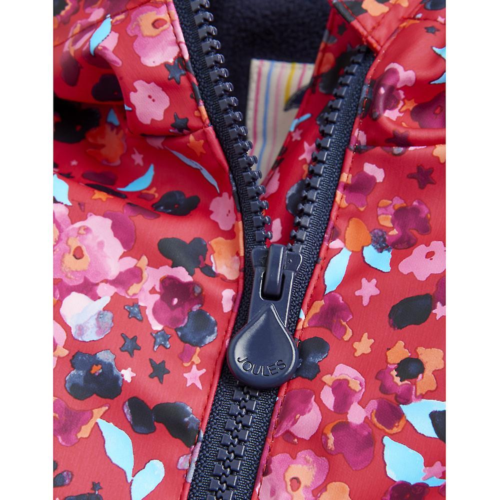 Joules Girls Z AOP Hooded Warm Fleece Lined Waterproof Coat Jacket