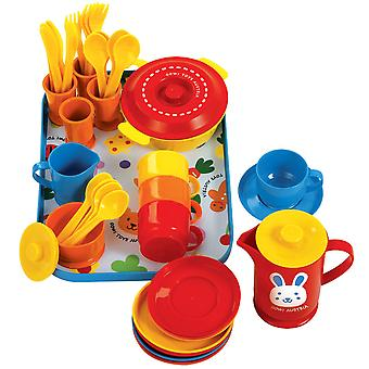 Gowi Toys Coffee Service Set (Blue - 39 Pieces) Pretend Role Play Set Children