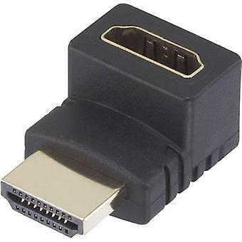 Adaptateur HDMI [1 x prise HDMI - 1 x HDMI socket] angle de 270 ° les meilleurs Connecteurs plaqués or SpeaKa Professional