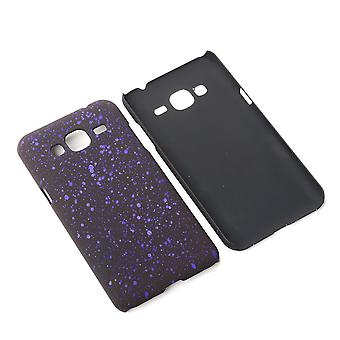Cell phone cover case bumper shell voor de Samsung Galaxy J3 3D ster paars