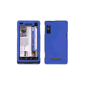 Rubberized Snap On Case for Motorola Milestone A854, Droid A855 , Blue