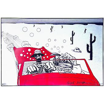Fear and Loathing in Las Vegas poster Ralph Steadman (cartoon - the savage journey-) 61 x 91.5 cm