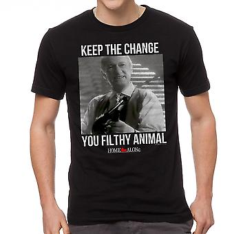 Home Alone Keep The Change Filthy Animal Men's Black T-shirt