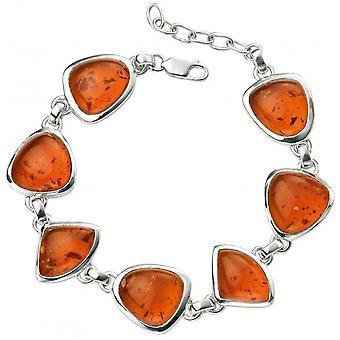 Beginnings Amber Multi Shape Bracelet - Amber/Silver