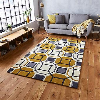 HK 9238 Ivory Yellow  Rectangle Rugs Modern Rugs