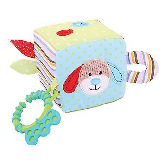 Bigjigs Toys Soft Plush Bruno Activity Cube Sensory Newborn Baby Gift Cot
