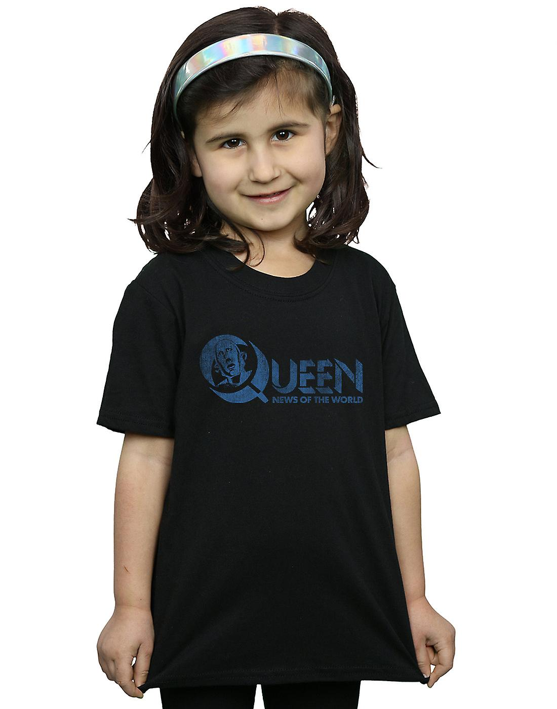 Queen Girls Distressed News Of The World T-Shirt