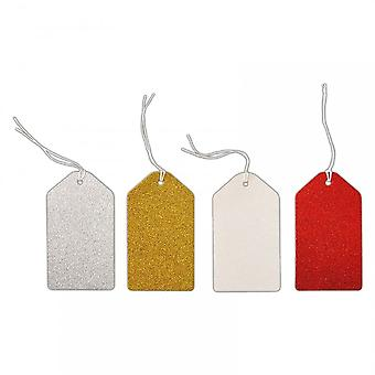 DoCrafts Glitter Gift Tags Assorted Colours