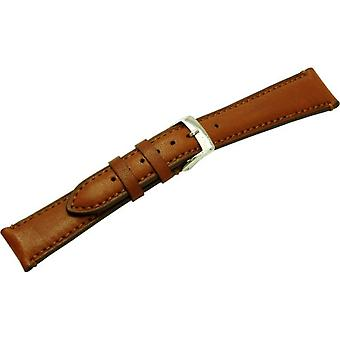 Morellato black leather strap 20 mm A01X3495006041CR20 LIGABUE golden brown man
