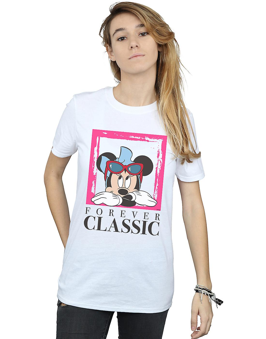 Disney Women's Minnie Mouse Forever Classic Boyfriend Fit T-Shirt