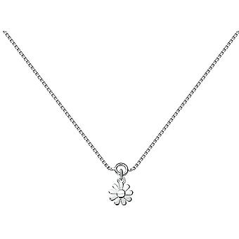 Bella blomst charme Ankelkæde - sølv