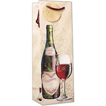 Simon Elvin Wine And Glasses Birthday Bottle Gift Bags (Pack of 6)