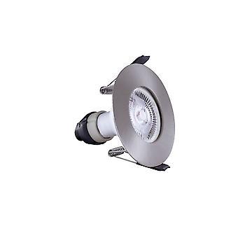 Integral - LED Fire Rated Downlight Spotlight Round Satin Nickel GU10 Holder Satin Nickel IP65 - ILDLFR70D002