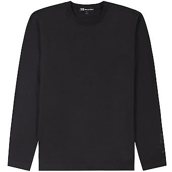 Y-3 Arm Logo Long Sleeve T-Shirt Black
