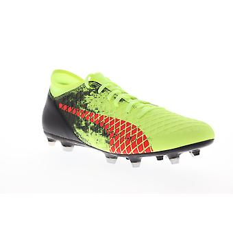 Puma Future 18.4 FG AG Homme SA Green Low Top Athletic Soccer Cleats Chaussures
